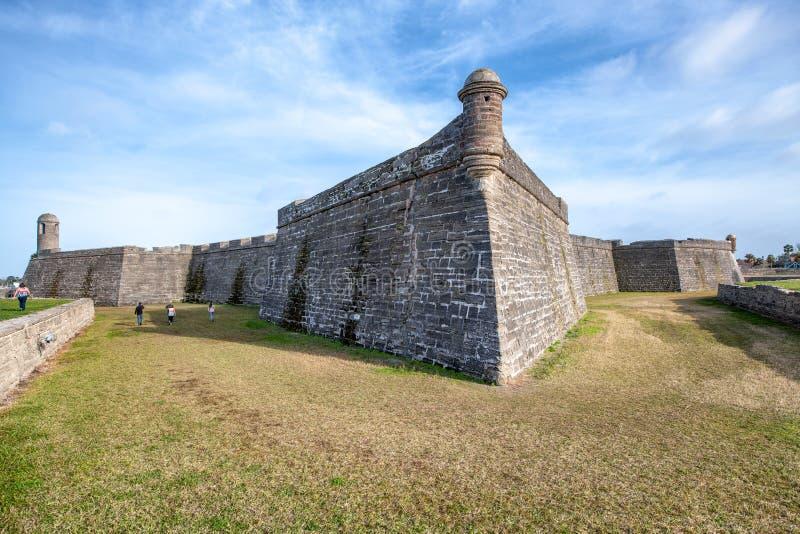 Castillo SAN Marcos, ST Augustine, Φλώριδα στοκ εικόνες