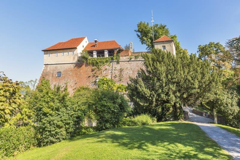 Castillo Schlossberg en Graz, Austria fotos de archivo libres de regalías
