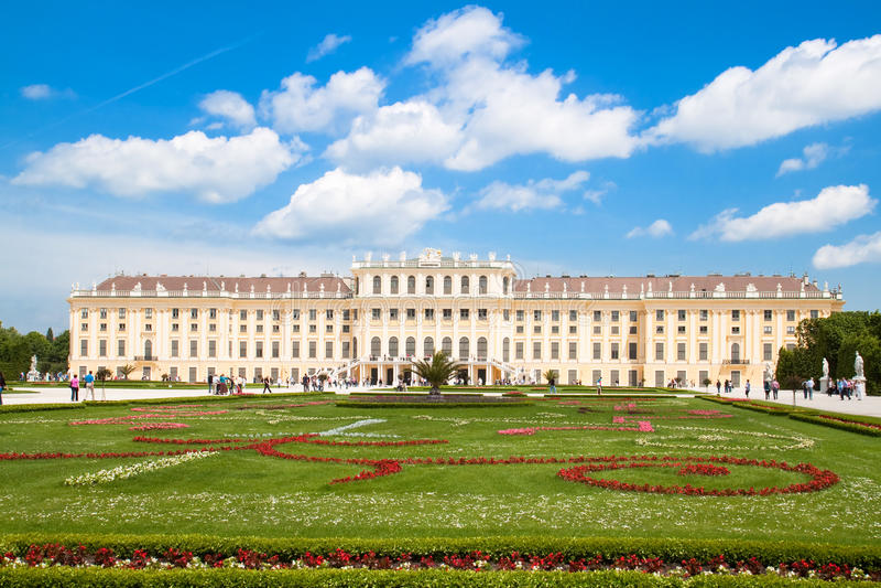 Castillo Schoenbrunn Viena, Austria fotografía de archivo