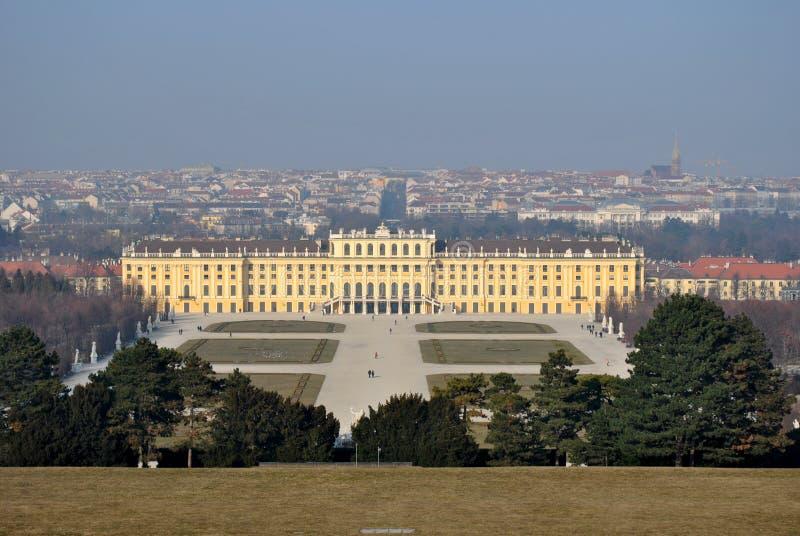 Castillo Schoenbrunn, Viena, Austria imagenes de archivo