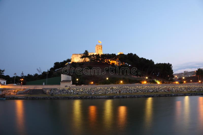 Castillo Sohail in Fuengirola, Spanje stock afbeeldingen