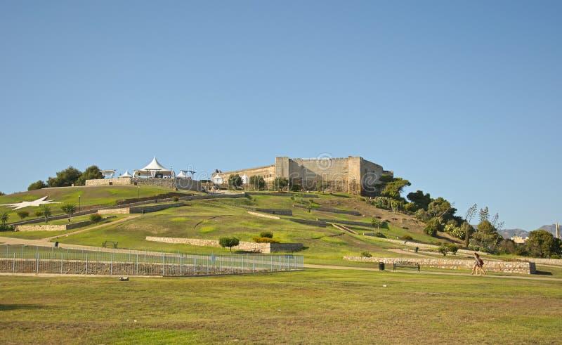 Castillo Sohail i Fuengirola, Spanien royaltyfri bild