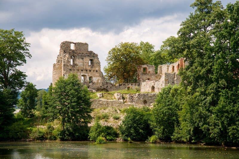 Castillo Stary Rybnik imagenes de archivo