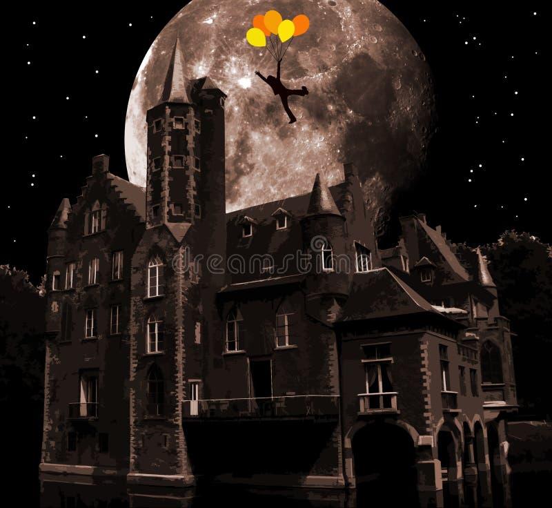 Castillo surrealista stock de ilustración