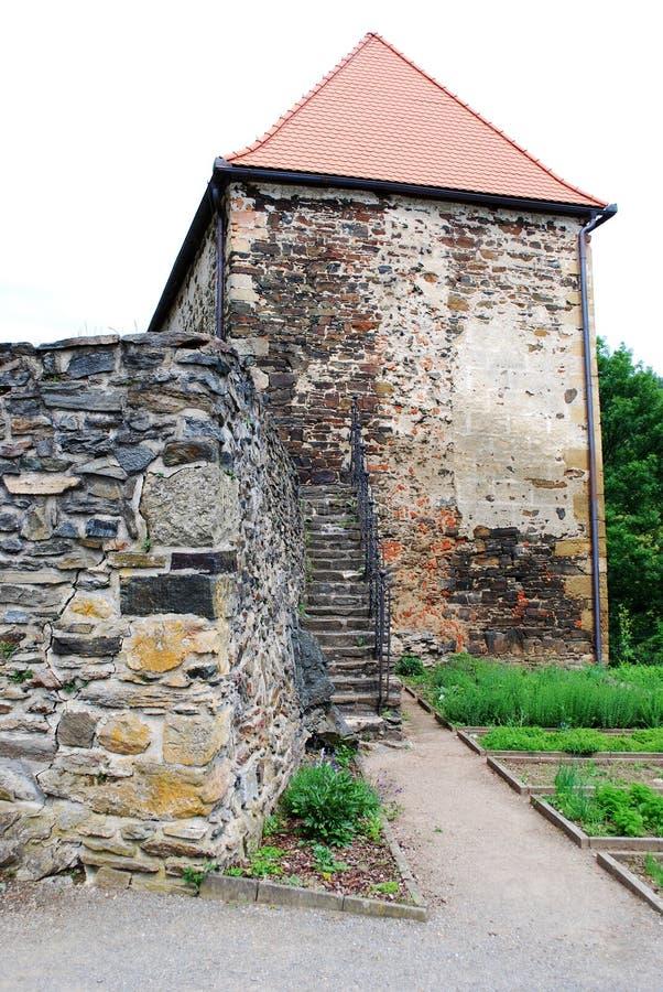 Castillo Svojanov, República Checa fotografía de archivo