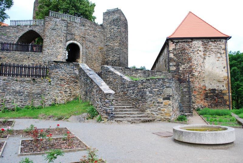 Castillo Svojanov, República Checa fotos de archivo