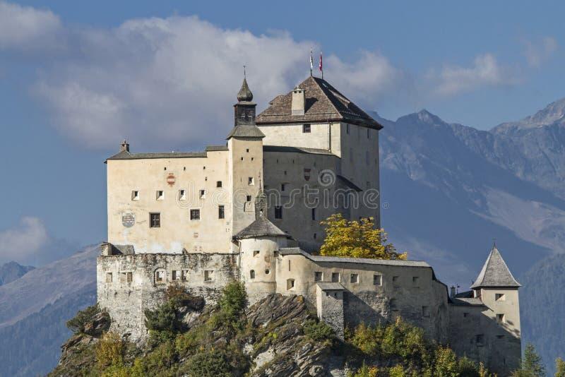 Castillo Tarasp fotos de archivo libres de regalías