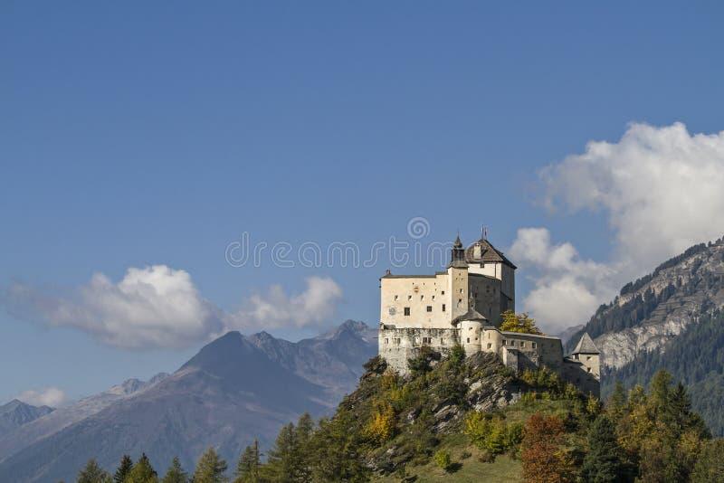Castillo Tarasp imagen de archivo