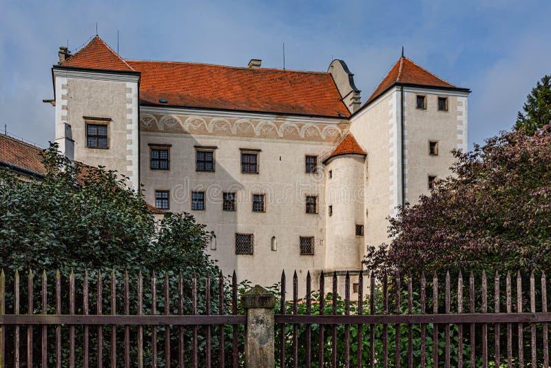 Castillo Telc en la República Checa fotos de archivo libres de regalías