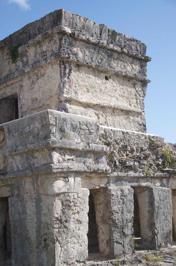 Castillo-Tempel, Tulum royalty-vrije stock afbeelding