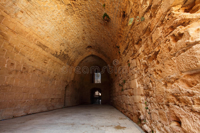 Castillo templar del caballero del acre, imágenes de archivo libres de regalías