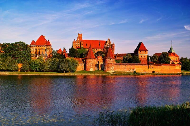 Castillo teutónico de la orden de Malbork fotos de archivo