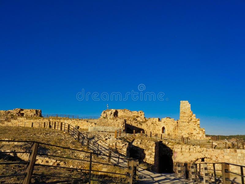 castillo viejo de la ruina en Jordania fotografía de archivo