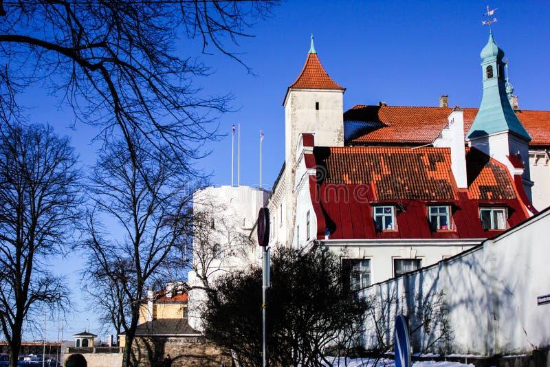 Castillo viejo de Riga en invierno 2019 imagen de archivo libre de regalías
