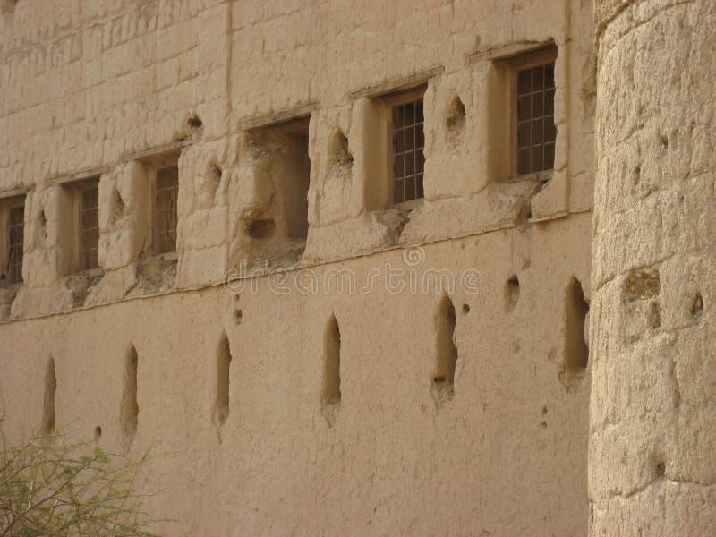 Castillo viejo en el sultanato de Omán foto de archivo libre de regalías