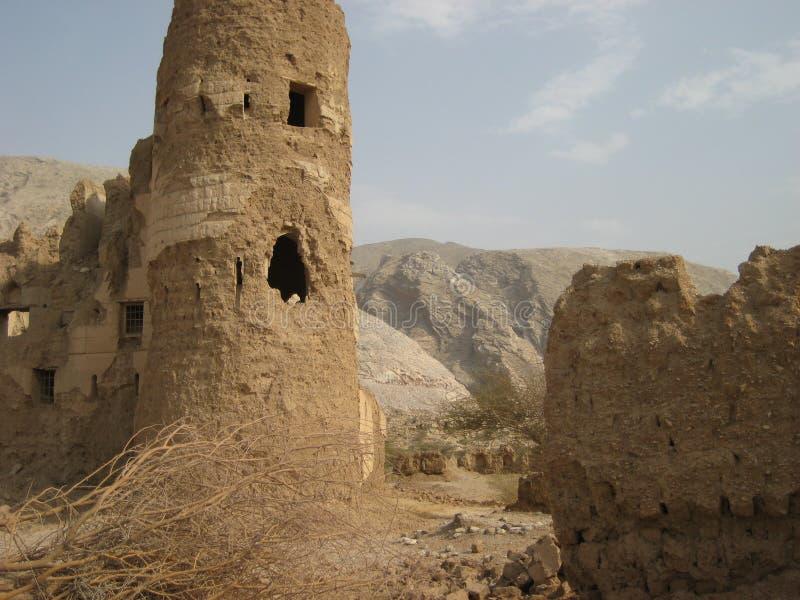 Castillo viejo en el sultanato de Omán fotos de archivo