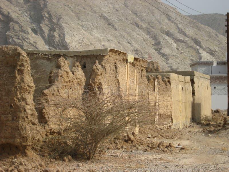 Castillo viejo en el sultanato de Omán imagenes de archivo