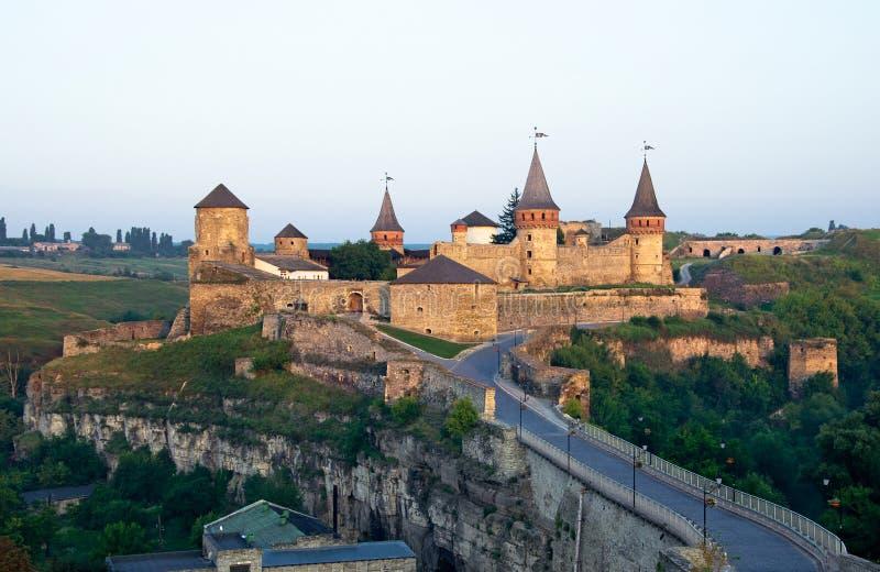 Castillo viejo en Kamenets-Podolsky Ucrania imagen de archivo libre de regalías