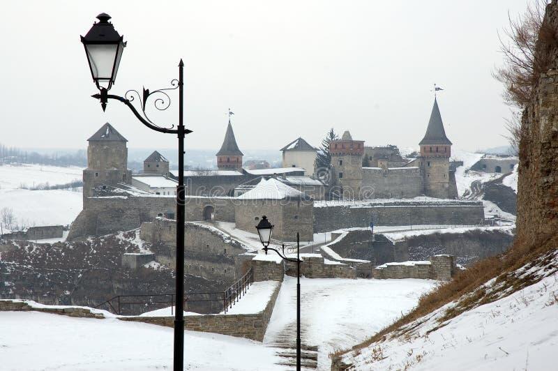 Castillo viejo en Kamenets-Podolsky Ucrania fotografía de archivo