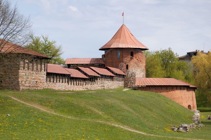 Castillo viejo en Kaunas fotos de archivo