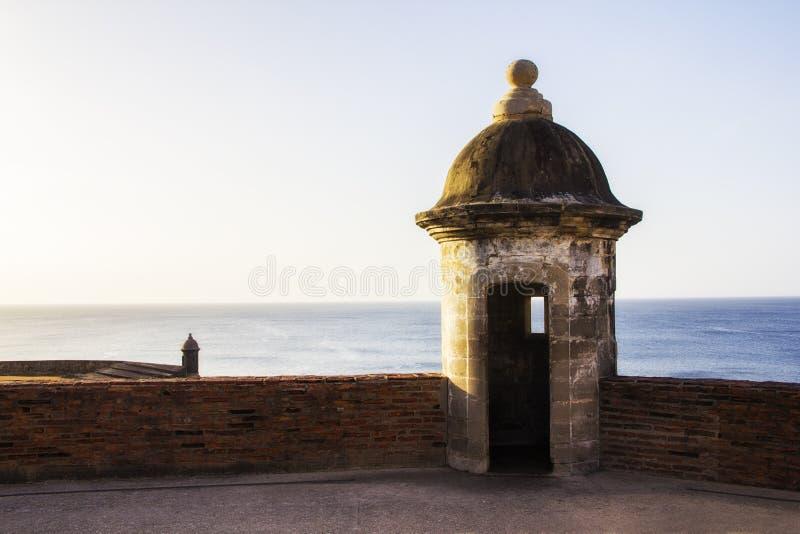 Castillo viejo en San Juan Puerto Rico imagen de archivo libre de regalías