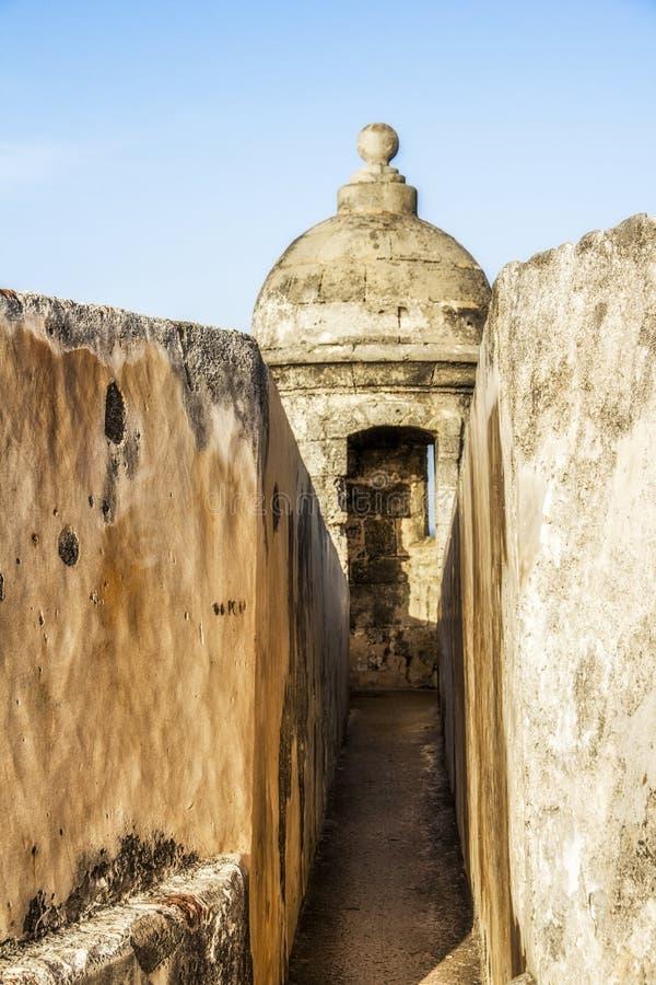 Castillo viejo en San Juan Puerto Rico imágenes de archivo libres de regalías