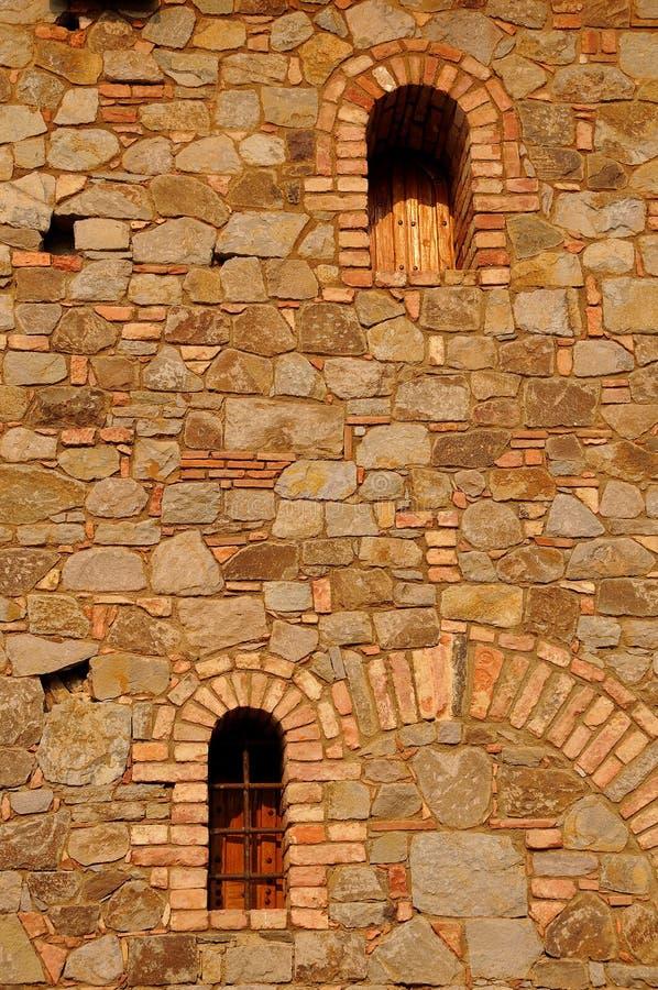 Castillo Windows de Toscana imagen de archivo libre de regalías