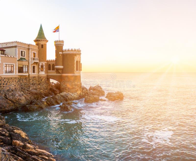 Castillo Wulff en Vina del Mar, Chili images libres de droits