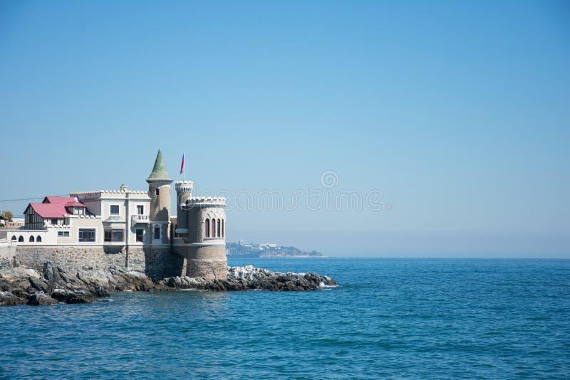 Castillo Wulff in Viña Del Mar, Cile fotografia stock