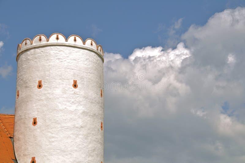 Castillo y nubes fotografía de archivo