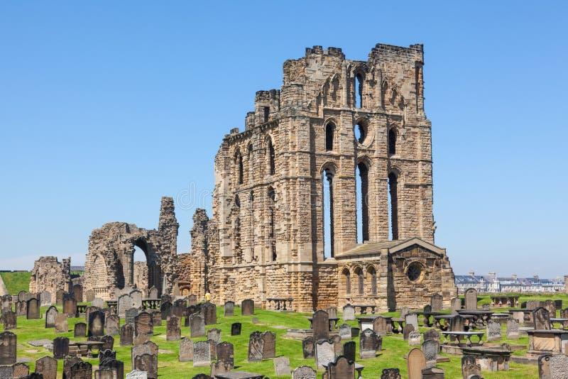 Castillo y priorato de Tynemouth imagenes de archivo