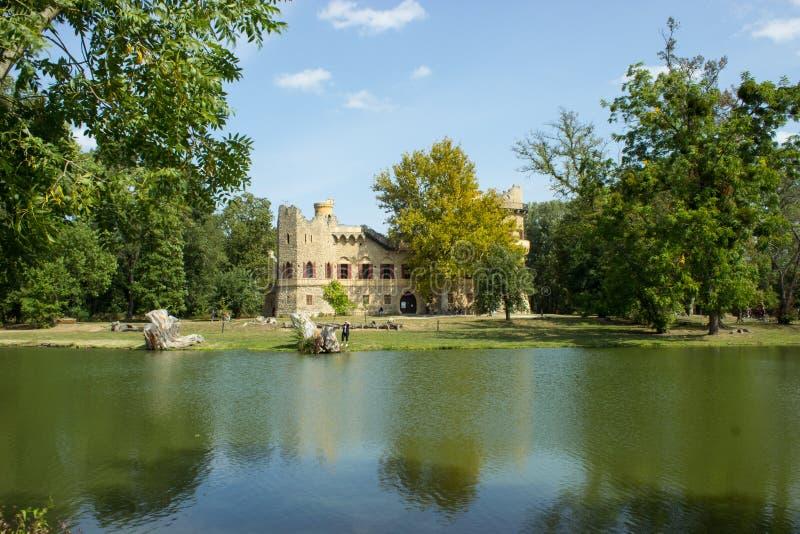 Castillo y reflexión de Jans en el río imagenes de archivo