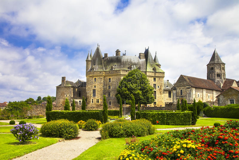 Castillos de Francia - Jumilhac-le-magnífica foto de archivo