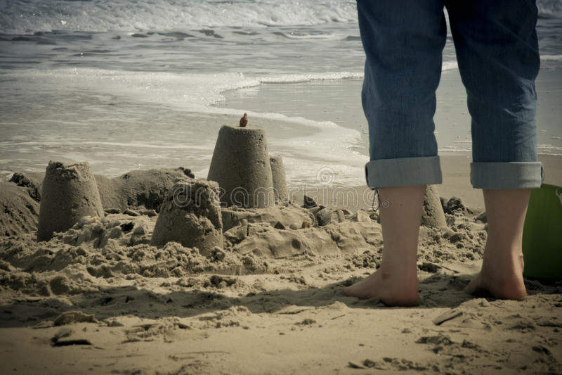 Castillos de la arena fotografía de archivo