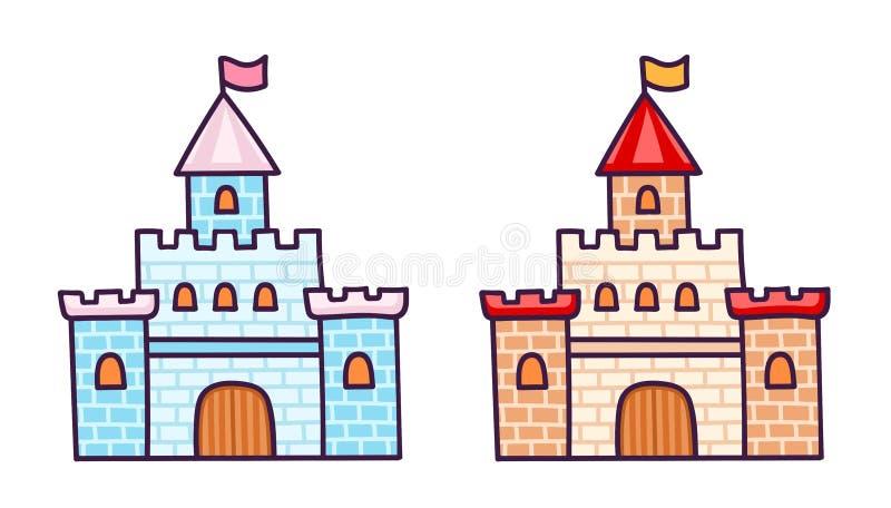 Castillos de la historieta para la pequeña princesa libre illustration