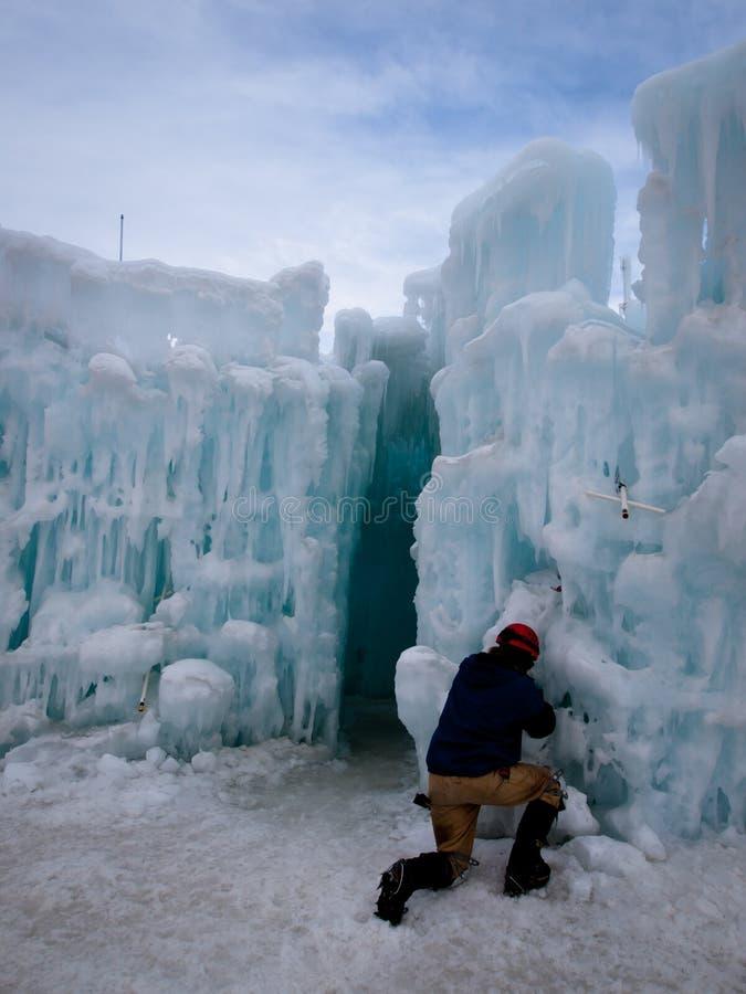 Castillos del hielo imagen de archivo