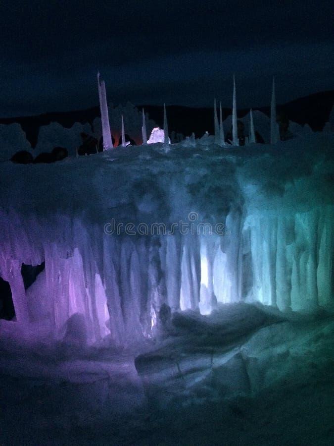 Castillos del hielo fotos de archivo