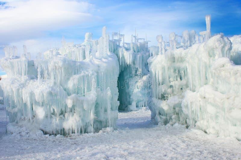 Castillos del hielo de Silverthorne imagenes de archivo