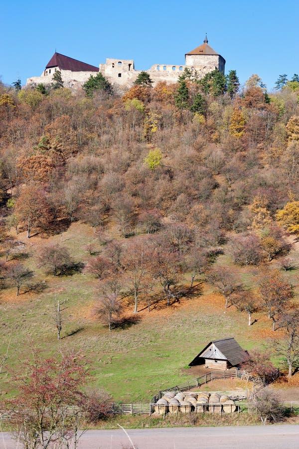 Castillos góticos reales Zebrak y Tocnik, región bohemia central foto de archivo libre de regalías