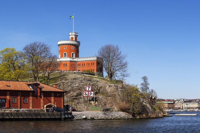 Castle σε Kastellholmen, Στοκχόλμη στοκ φωτογραφίες