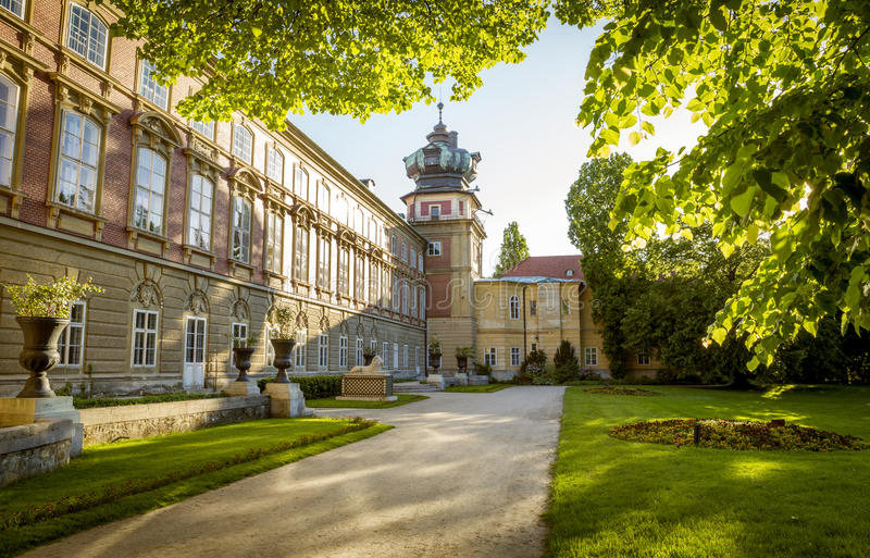 Castle σε Lancut, Πολωνία στοκ εικόνα