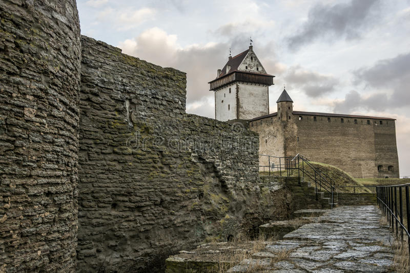 Castle σε Narva, Εσθονία στοκ φωτογραφία με δικαίωμα ελεύθερης χρήσης