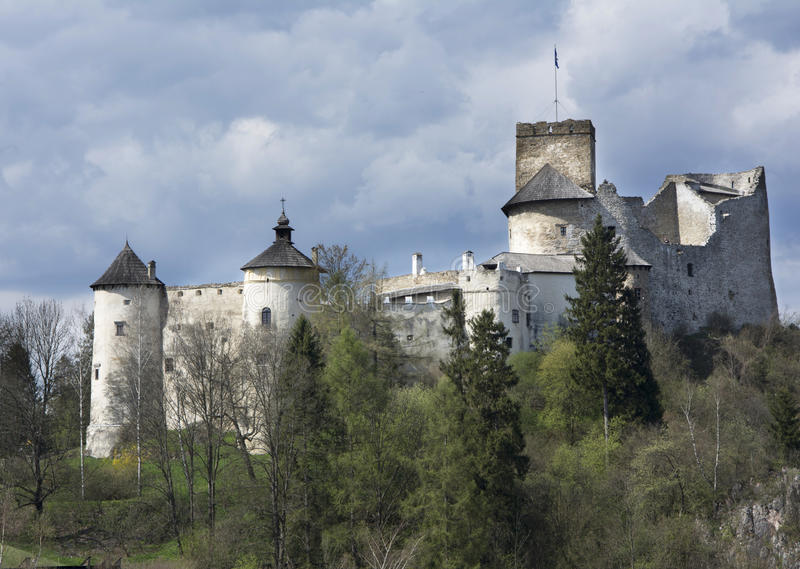 Castle σε Nidzica στοκ εικόνες