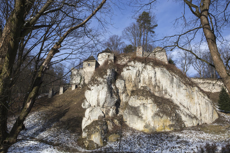 Castle σε Ojcow στοκ εικόνες