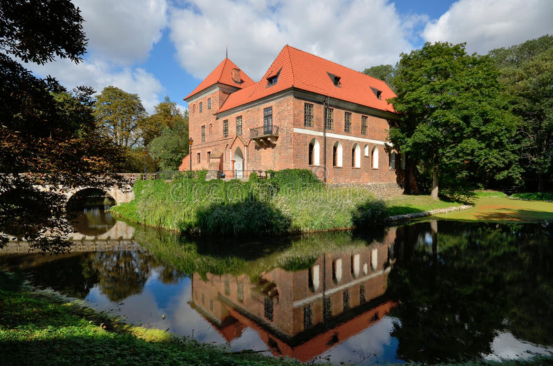 Castle σε Oporow στοκ εικόνες
