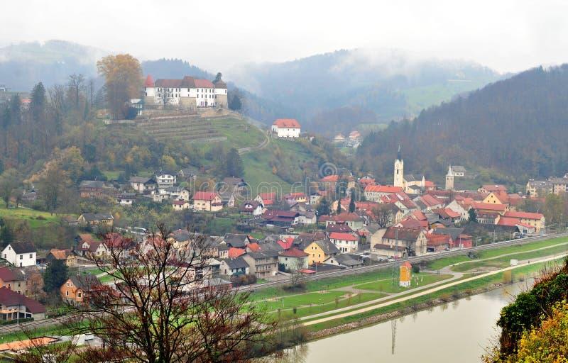 Castle σε Sevnica, Σλοβενία, πόλη παιδικής ηλικίας της Melania Trump στοκ εικόνες