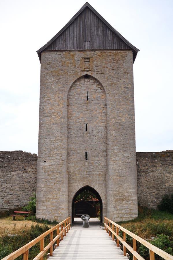 Castle σε Visby στοκ εικόνες