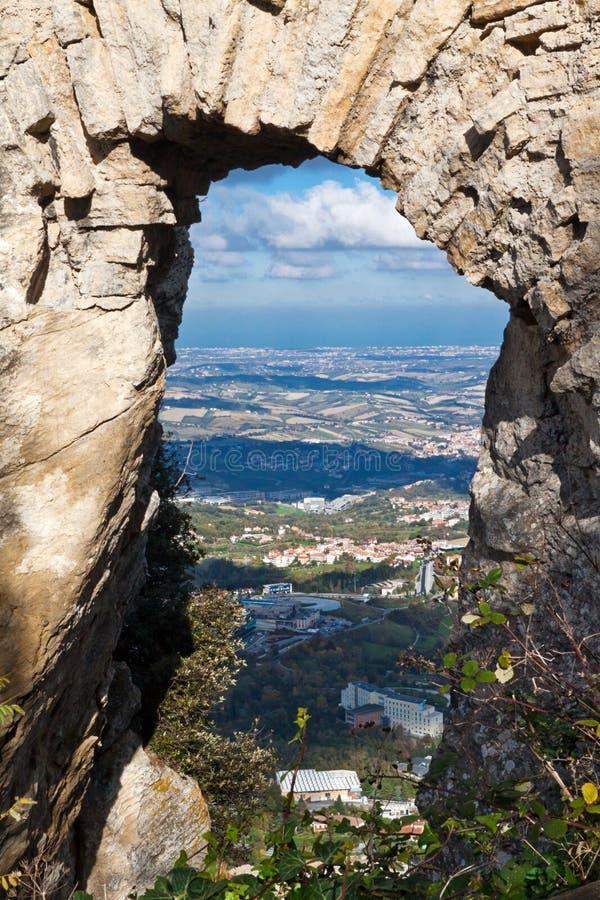 Castle στον Άγιο Μαρίνο στοκ εικόνες με δικαίωμα ελεύθερης χρήσης