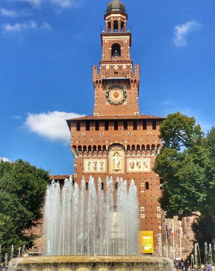 Castle στο Μιλάνο Ιταλία στοκ εικόνα