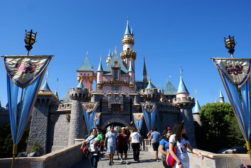 Castle της ομορφιάς ύπνου στοκ εικόνες με δικαίωμα ελεύθερης χρήσης